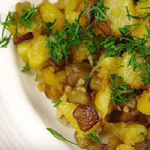 Картошка с баклажанами