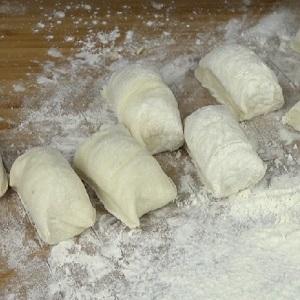 Порции теста для пирожков