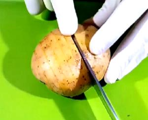Разрезы на картошке
